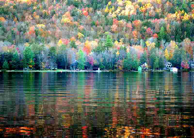 colorful fall lake